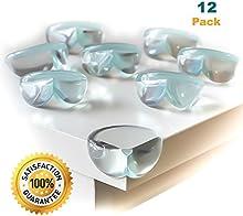 CalMyotis® protección de bordes almohadillas de protección de protectores de esquinas bebé anti-choque (12 piezas)