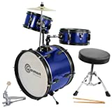 Blue Drum Set Complete Junior Kid's Children's Size with Cymbal Picture