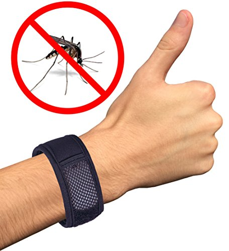 Today ONLY! Natural Mosquito Repellent Bracelet - 2 Free Insect Repellent Refills + EBook Gift! No Spray Technology, Deet Free Best Pest Repeller for Mosquitos, Ants and Other Bugs - Perfect for the Family - Adults and Kids