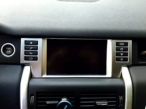 Chrom-ABS-Armaturenbrett-Navigation-Konsole-Verkleidung-fr-Land-Rover-Discovery-Sport-2015-2016