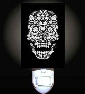 Day Of The Dead Floral Design Skull Decorative