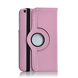 "RKA 360¡Rotating PU Leather Stand Case For Samsung Galaxy Tab3 8.0"" SM-T311 SM-T310 Light Pink"