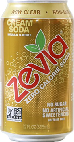 Zevia Zero Calorie Soda, Cream Soda, Naturally Sweetened, (Pack of 24) (Zevia Cream Soda compare prices)
