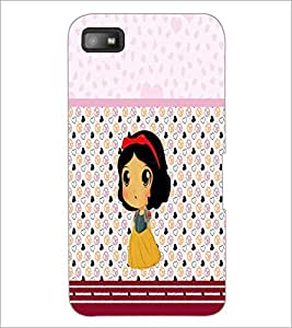 PrintDhaba Cute Doll D-5880 Back Case Cover for BLACKBERRY Z10 (Multi-Coloured)