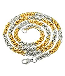 Arpan Creation yellow gold plated chain for men