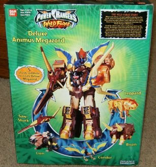 Power Rangers Deluxe Animus Megazord Wild Force Action Figure