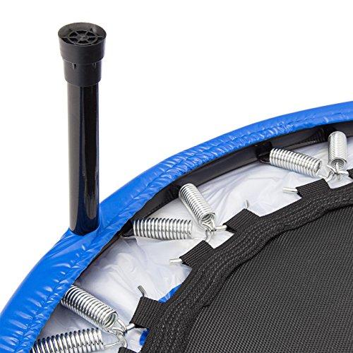 Relaxdays Fitness Trampolin 91 cm Durchmesser, Blau, M, 10020093_485 -