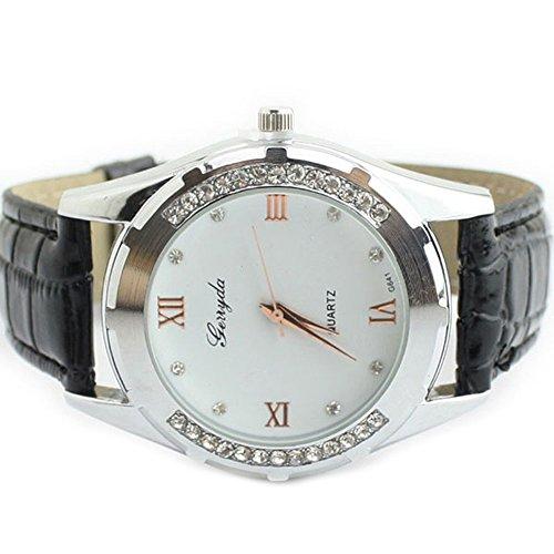 Zps(Tm) Rhinestone Quartz Ladies Wrist Watch(Black)