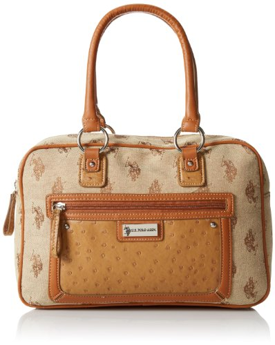 U.S. Polo Assn. Ashford Jacquard Satchel,Chino,One Size