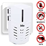 Pest Control, Sokos Ultrasonic Electric Pest Repeller Wall Plug-in-Indoor Pest Control Repellent for Insects, Repel Mice, Rats, Moths, Bats And More (White)