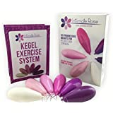 Kegel Exercise Weights with 6 Pelvic Floor Stimulator Devices for Bladder Control, Easier Labor & Recovery and Better Sex Training Kit for Women: Beginners & Advanced