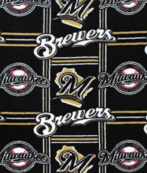 Milwaukee Brewers Mlb Fleece Fabric - By The Yard
