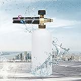 "BLIIFUU Foam Cannon with 1/4"" Quick Connector for Pressure Washer Gun, Adjustable Snow Foam Lance 1 Liter Bottle 3000PSI Foam Sprayer Car Wash"