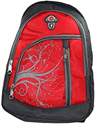 Paramsai Elegance 35 Liters Canvas Red School Bag For Boys & Girls