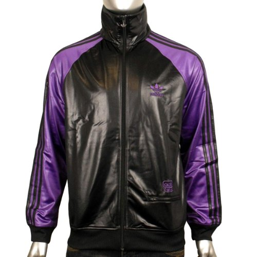 Mens Adidas Originals Chile 62 Colblo TT Black Purple Track Suit Top Jacket M