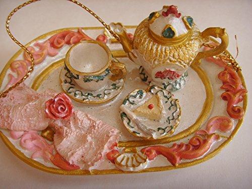 """Tea Set 3.5"""" Christmas Ornament Home Decor"""