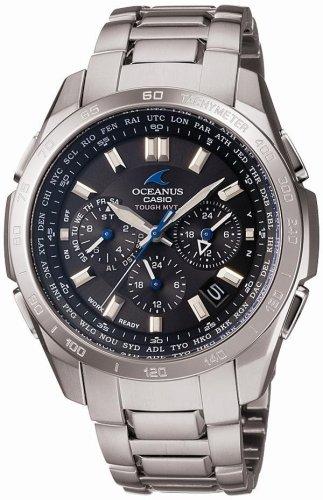 CASIO (カシオ) 腕時計 OCEANUS オシアナス Classic Line クラシックライン タフソーラー 電波時計 TOUGH MVT MULTIBAND6 OCW-T600TD-1AJF メンズ