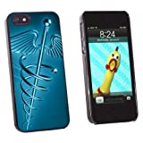 Graphics and More Medical Caduceus Symbol - Snap-on Hard Protective Case for Apple iPhone 5/5s - Non-Retail Packaging - Black