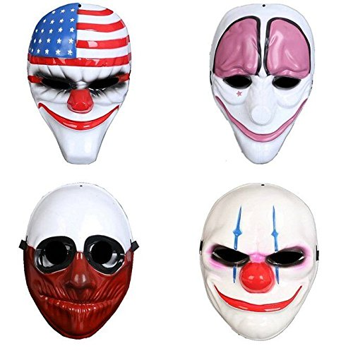 salico-fantasie-halloween-fest-kostum-tier-latex-verkleidung-clown-maske-4pcs-set