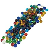 Jennifers Mosaics Color Variety 1/2-Inch Medium Glass Gems, Assorted Colors, 1-Pound