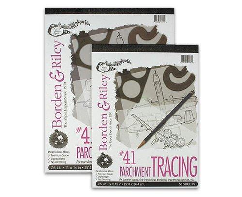Borden & Riley Parchment Tracing Paper No. 51 - 30 lb Roll 42