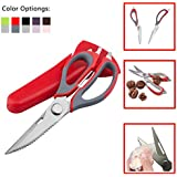 3Cworld Multifunction Kitchen Shears/Scissors - Heavy Duty (Take Apart) Kitchen Tool With Dozens Of Uses (Red...