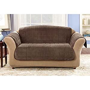 Amazon Sure Fit Deluxe Sofa Throw Cover in Sable 50