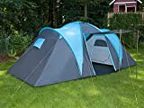 Skandika - Hammer, tenda da campeggio per 4 persone, colore: Blu/Nero