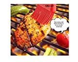 "Silcony Set of 3 Pure Silicone 8.4"" Heat Resistant Basting Pastry Brushes - Perfect for BBQ, Grilling, Baking, Marinating Meat, Steaks, Spring Rolls & Much More- Assorted Colors"