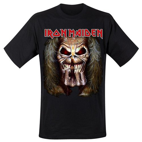 Iron Maiden - Eddie Candle Finger, T-shirt, manica corta da uomo, nero(black), S