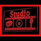 Studio Video Recording Music Media On Air Element Elegant LED Light Sign 140074 Color Red