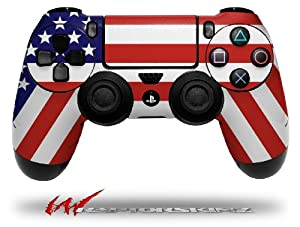 USA American Flag 01 - Decal Style Wrap Skin fits Sony PS4 Dualshock Controller