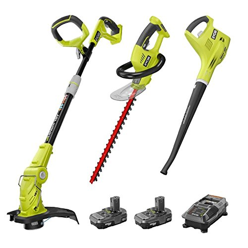 Ryobi ZRP2015 18V Cordless 3-Tool Outdoor Combo Kit Certified Refurbished (Ryobi Gas Hedge Trimmer compare prices)