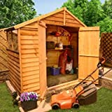 BillyOh 4' x 8' Lincoln Overlap Double Door Apex Garden Shed