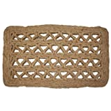 J & M Home Fashions Chain Rectangle Woven Coco Doormat, 18-Inch by 30-Inch
