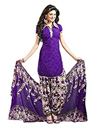 Divyaemporio Women'S Faux Crepe Purple Salwar Suits Dress Material