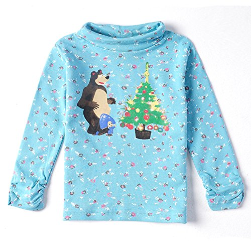 Christmas Floral Kids Brand Children Clothing Cotton Long T Shirt For Baby Girls