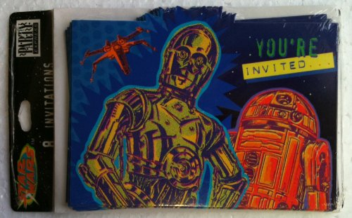 Star Wars CP3O & R2D2 Party Invitation Cards