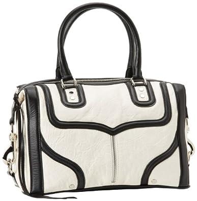 Rebecca Minkoff Mab Bombe 10ZEELCRE2 Shoulder Bag,White/Black,One Size