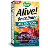 Natures Way - Alive Once Daily Mens 50+ Multi-Vitamin & Whole Food Energizer Ultra Potency - 60 Tablets ( Multi-Pack)
