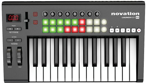 Novation Launchkey 25, 25-key USB/iOS MIDI Keyboard Controller with Synth-weighted Keys