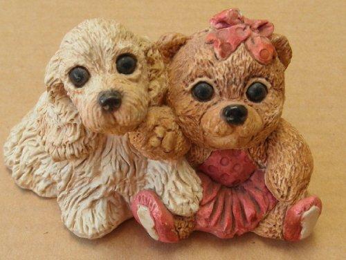 Decorative Ceramic Dog  Bear - 2 1/2 inches tall