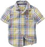 Carter niños pequeños' de la camisa de diseño de la selección de botón abajo (de los niños infantil con diseño de /) - de color amarillo - 4 construcción de madera de: color amarillo y del tamaño de la: 4 (del bebé/diseño de mujer/sillita para bebés