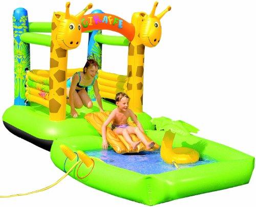 Friedola Gebr. Holzapfel GmbH 14068 - Castillo hinchable con piscina (diseño de jirafa)