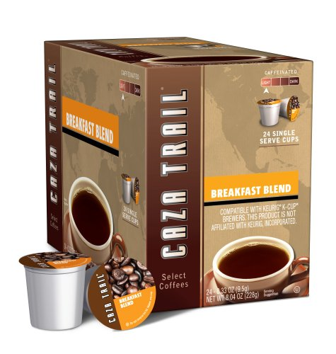 Caza Trail Breakfast Blend, 24-Count Single Serve Cup for Keurig K-Cup Brewers