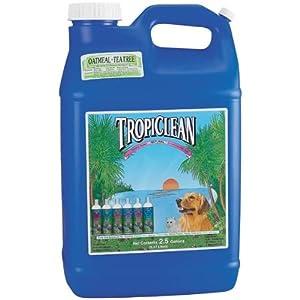 TropiClean Natural Oatmeal and Tea Tree Pet Shampoo, 2-1/2-Gallon