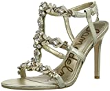 Sam Edelman Selena Women US 9.5 Gold Open Toe Slingback Heel