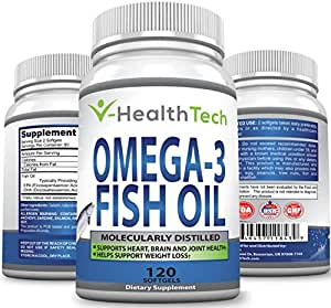 pure omega 3 fish oil 120 softgels 2 000