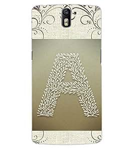 """ColourCraft Alphabet """"A"""" Design Back Case Cover for OnePlus One"""