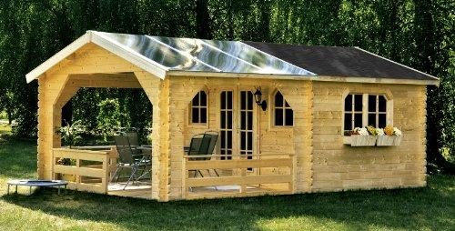 skan holz terrassenhaus gartenhaus 45 mm 380 x 610 cm. Black Bedroom Furniture Sets. Home Design Ideas